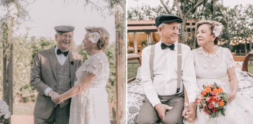 Couple Had No Pictures of Their Wedding Day, So They Had Photo Shoot 60 Years Later