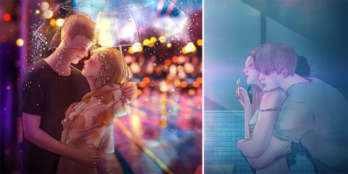 Beauty of Falling In Love Illustrated Perfectly You Can Almost Feel It