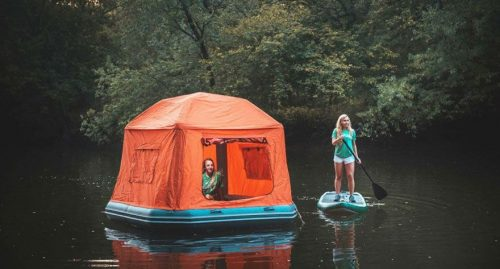 First Ever Inflatable Floating Tent – Every Camper's Dream
