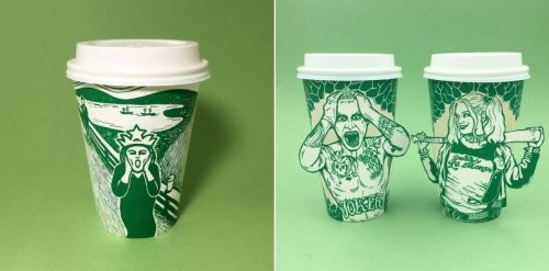 Starbucks' Mermaid Cups Used as Canvas for Amazing Illustrations