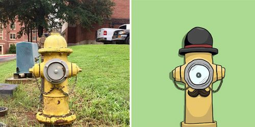 Pareidolia: Artist Sees Faces Everywhere He Looks and Turns Them Into Characters