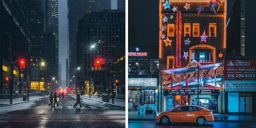 Toronto at Night – Collection of Cinematic Moments Captured on Streets of Toronto by Bora