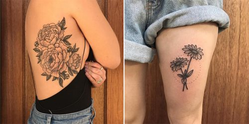 Exceptional Black Ink Flower Tattooer Emily Weber – Dearemilyann