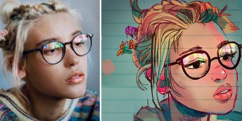 Ordinary People Illustrated as Manga-Like Characters in Fantastic Fashion by Toonimated Draws