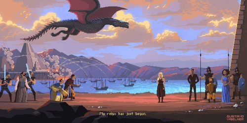 8-Bit Pixel Art Version of Popular TV Series and Movies