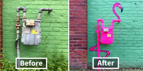 Whimsical Street Art by Creative Genius Tom Bob