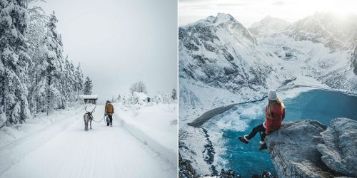 Young Adventurer and Photographer Shoots Thrilling Landscapes on His Journeys