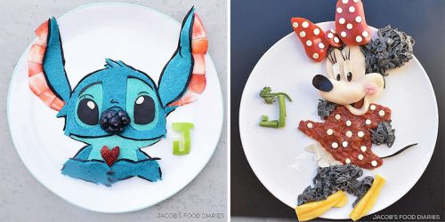 Mum Makes Food Into Cartoon Characters to Make Her Son Eat Healthy
