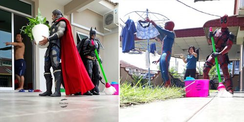 Toy Collector Commands Avengers to Clean His House