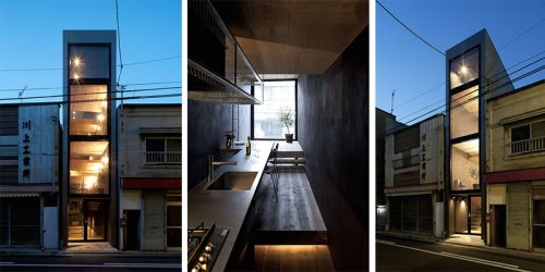 Extremely Narrow – 1.8m Wide House by YUUA
