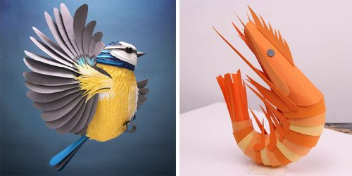 Colorful 3D Paper Sculptures by Lisa Lloyd
