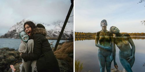 Human Cameleons – Artist Paints on Models' Skin to Make Them Vanish