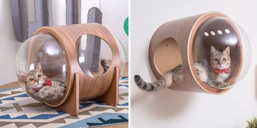 Spaceship Cat Beds by Myzoo Studio