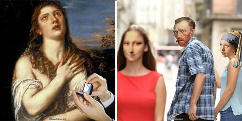 Pop Memes and Classical Art Collide in Hilarious Mashups