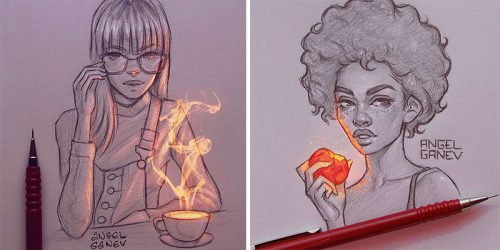 Incredible Glowing Pencil Portraits