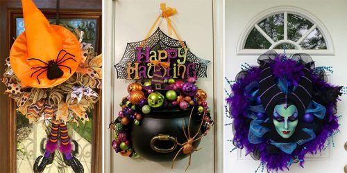22 The Cutest Whimsical Halloween Wreaths for Your Door