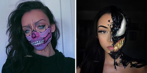 Spooky and Creative Halloween Makeup by Angilian Lizardi