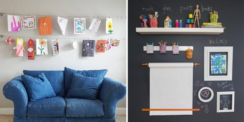 27 Smart Ways to Display Your Kids' Artwork