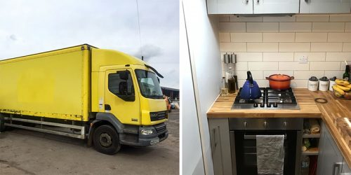 Couple Transforms Delivery Truck from eBay into Amazing House on Wheels