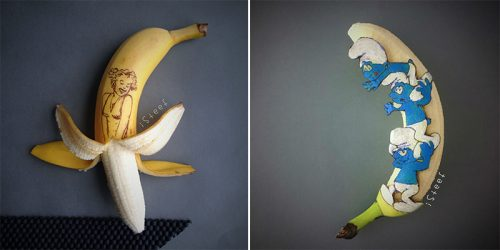 Peeled and Carved – Amazing Banana 3D Art