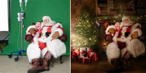 Sick Kids in Hospitals Photographed with Santa and Photoshopped into Most Magical Christmassy Sceneries