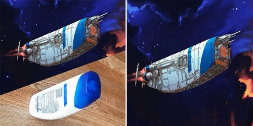 Amazing Spaceships Inspired by Household Objects