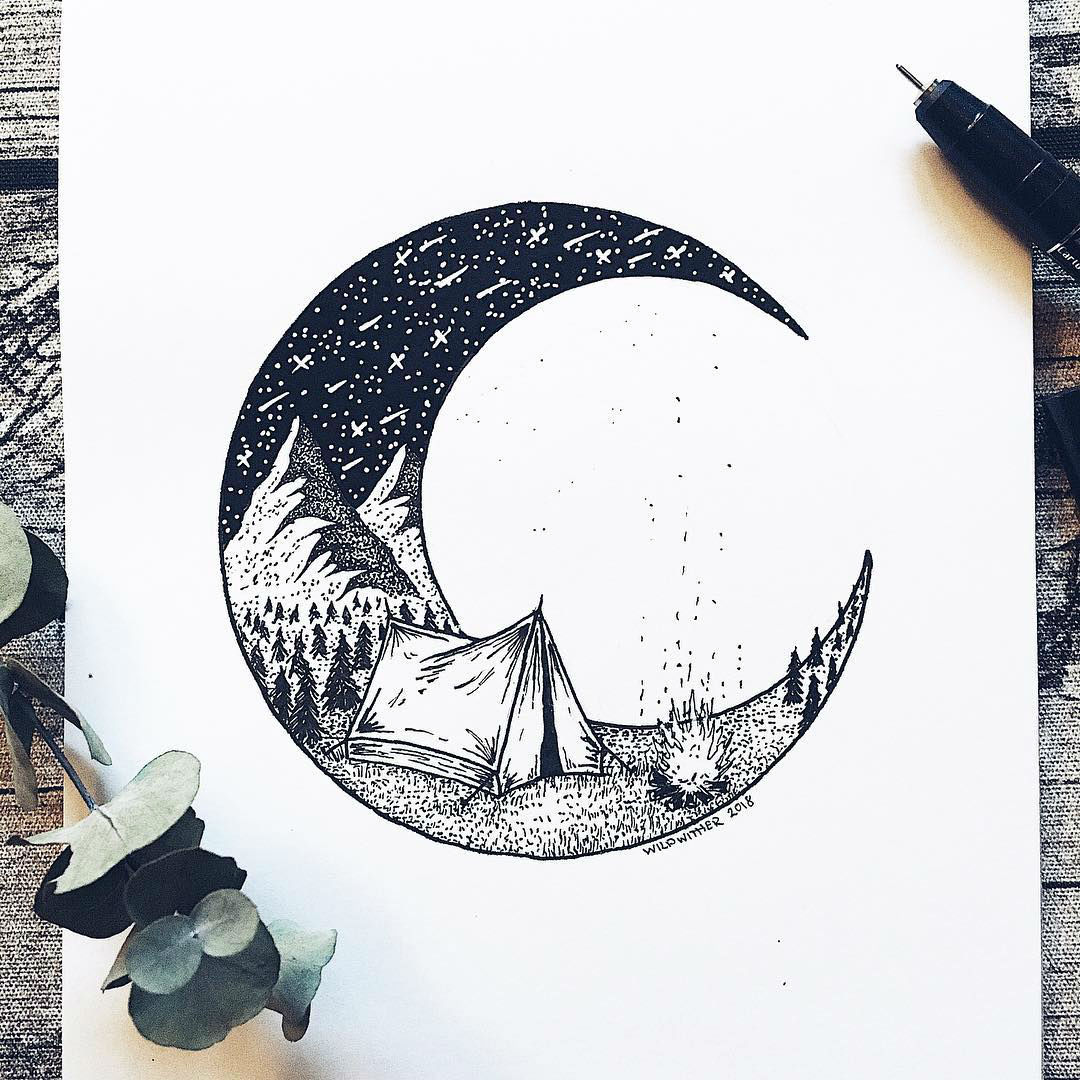 Dot Illustrations of Nature Eases the Anxiety of This Amazing Artist