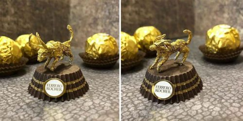 Ferrero Rocher Mini Sculptures by Ciro Wai