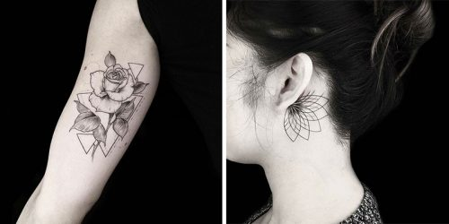 Flawless Geometric Tattoos by Okan Uçkun