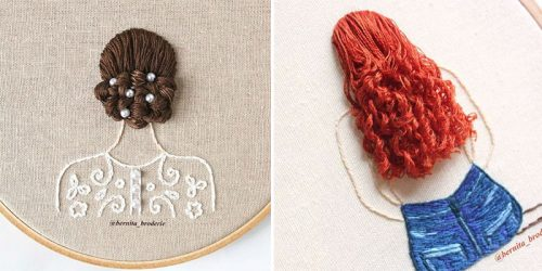 Charming and Sweet 3D Embroidered Hair Designs