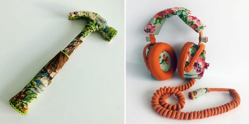 Cross-Stich Embroidery of Forgotten Household Objects by Ulla Stina-Wikander