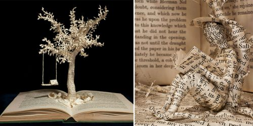 Fascinating Book Sculptures by Emma Taylor