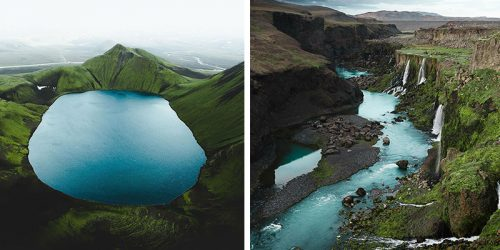 Striking Aerial Icelandic Landscapes by Gábor Nagy