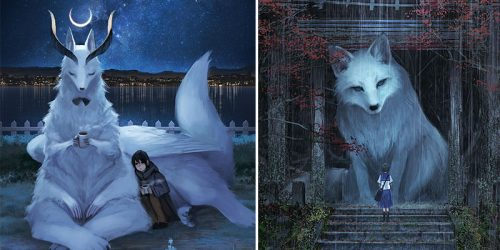 The World with Tiny Humans and Giant Animals is a Perfect World – Illustrations
