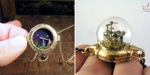 Incredibly Detailed Miniature Worlds Inside Antique Pocket Watches