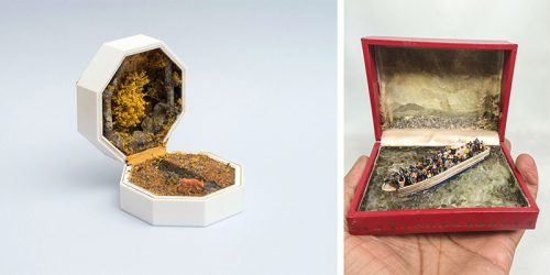 Important Miniature Scenes Unraveling Inside Jewelry Boxes by Curtis Talwst Santiago