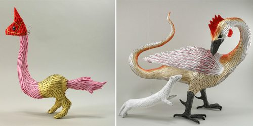 Fantastic Beasts from Medieval Manuscripts Brought to Life as Piñatas by Roberto Benavidez