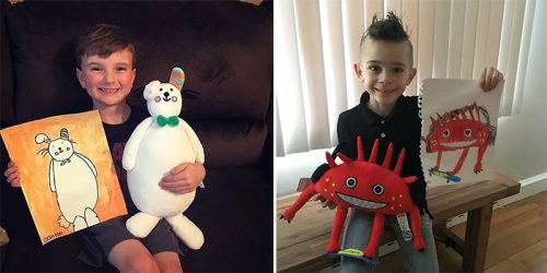 Draw a Plush Toy? If Your Kid Can Draw or Scribble You Can Create a Toy of His Dreams