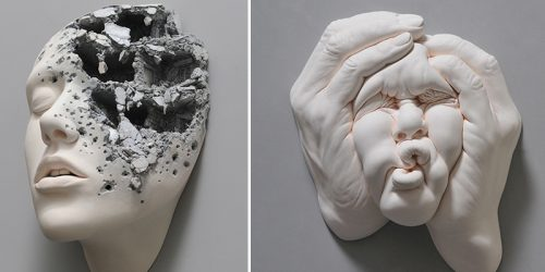 'Lucid Dream II' – Twisted Ceramic Portrait Sculptures by Virtuoso Johnson Tsang