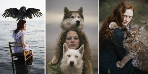 Dreamy Portraits of Redheads Paired with Their Matching Animals
