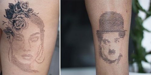 Fascinating ASCII Technique and Simply Breathtaking Tattoo Art