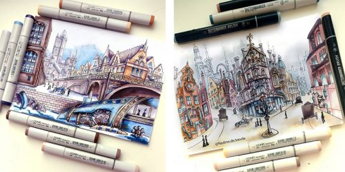 Travel Sketches by Nadine Kasianova