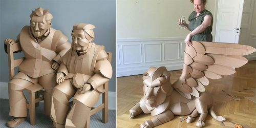 Humans-Sized Cardboard Figures by Warren King