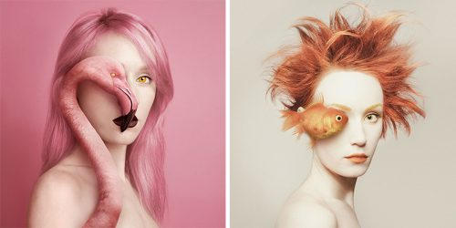 "Flora Borsi's ""Animeyed"" – Ethereal Self-Portrait Series"