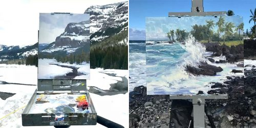 Paintings Framed to Blend Perfectly with Nature – by Aaron Schuerr