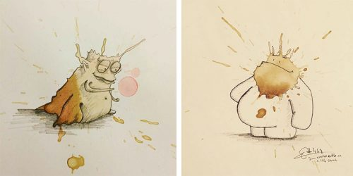 Coffee Monsters – Curious Doodle At Its Finest by Stefan Kuhnigk