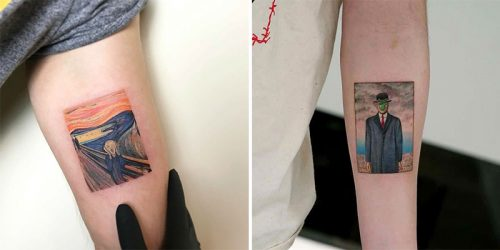 Famous Paintings Recreated in Brilliant Fine Art Tattoos by Eva Krdbk
