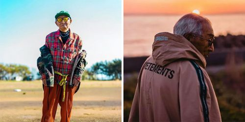 84-Year-Old Grandpa Becomes Fashion Star Overnight – Wearing Grandson's Clothes