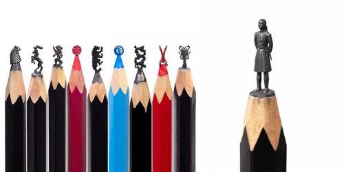 Salavant Fidai's Amazing Game of Thrones Pencil Tip Sculptures