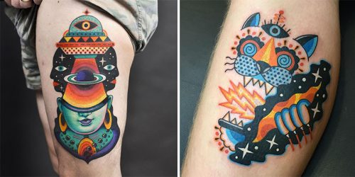 Technicolor Tattoos by Winston the Whale